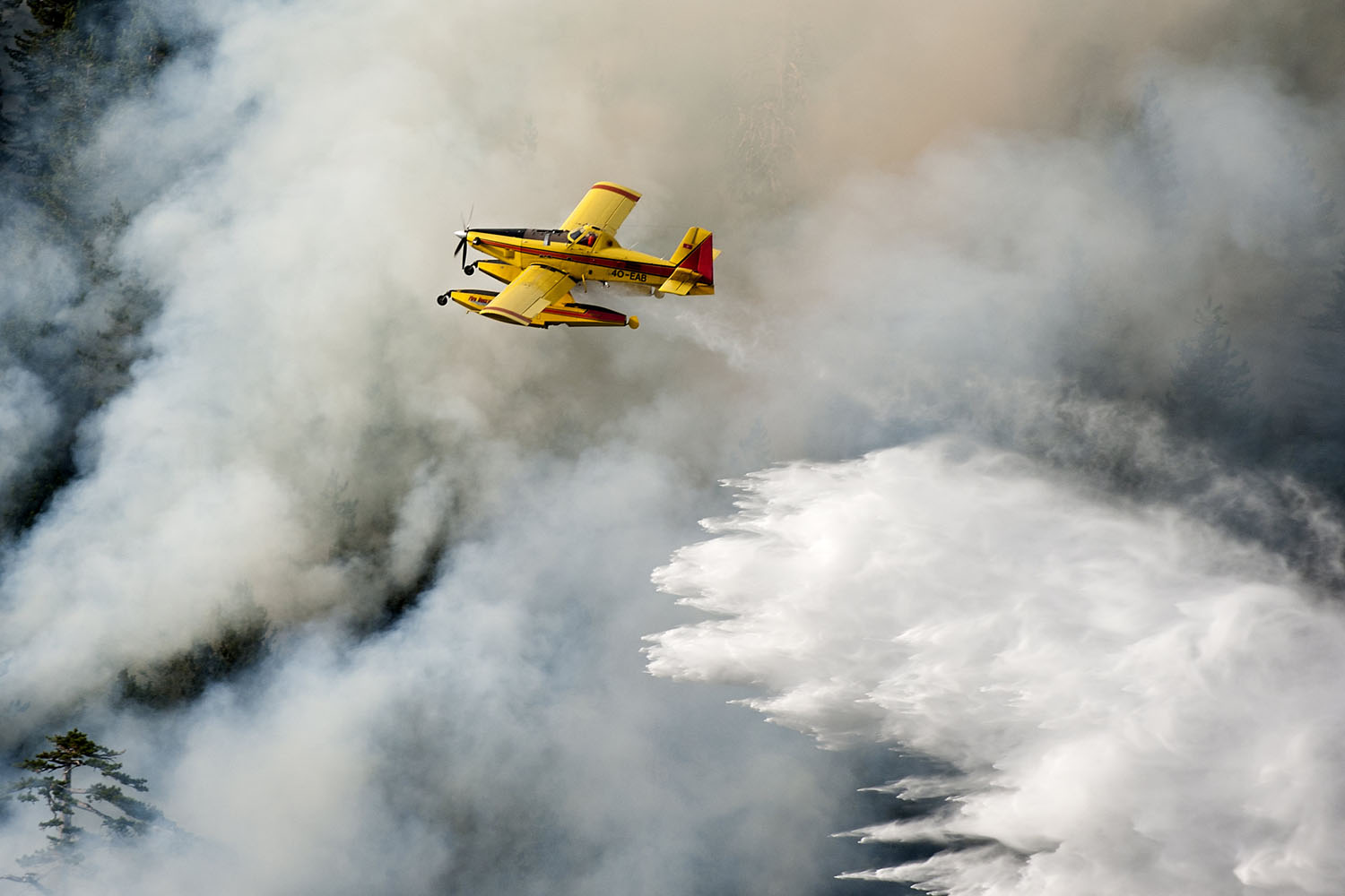 Air Tractor 802F putting out forest fire